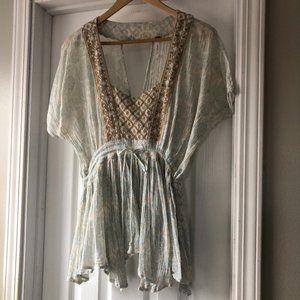 - Free People Boho Embroidered Flowy Top